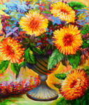 ACRYLIC PAINTING TUTORIAL 30 - SUN FLOWER