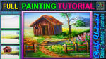 Barn House with River by beejay-artlife12
