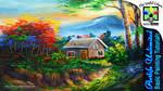 BASIC HOUSE AND AUTUMN TREES