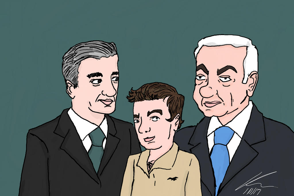 Lapid and Netanyahu's Kid by kasaundra1