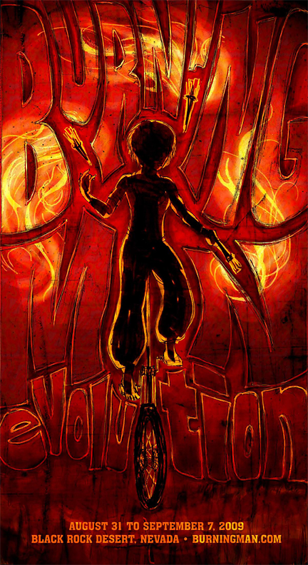 Event Posters - Burning Man 1 by Jandalf