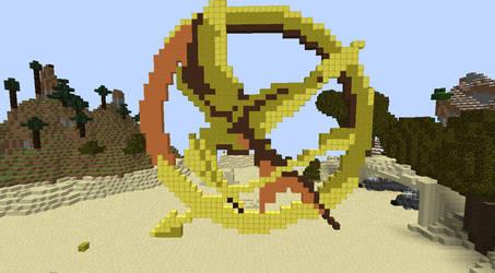Mocking Jay Pin Minecraft Pixel Art