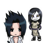 Sasuke and Orochimaru
