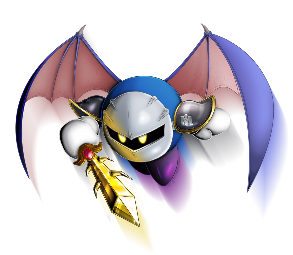 Meta Knight by tooneyfish