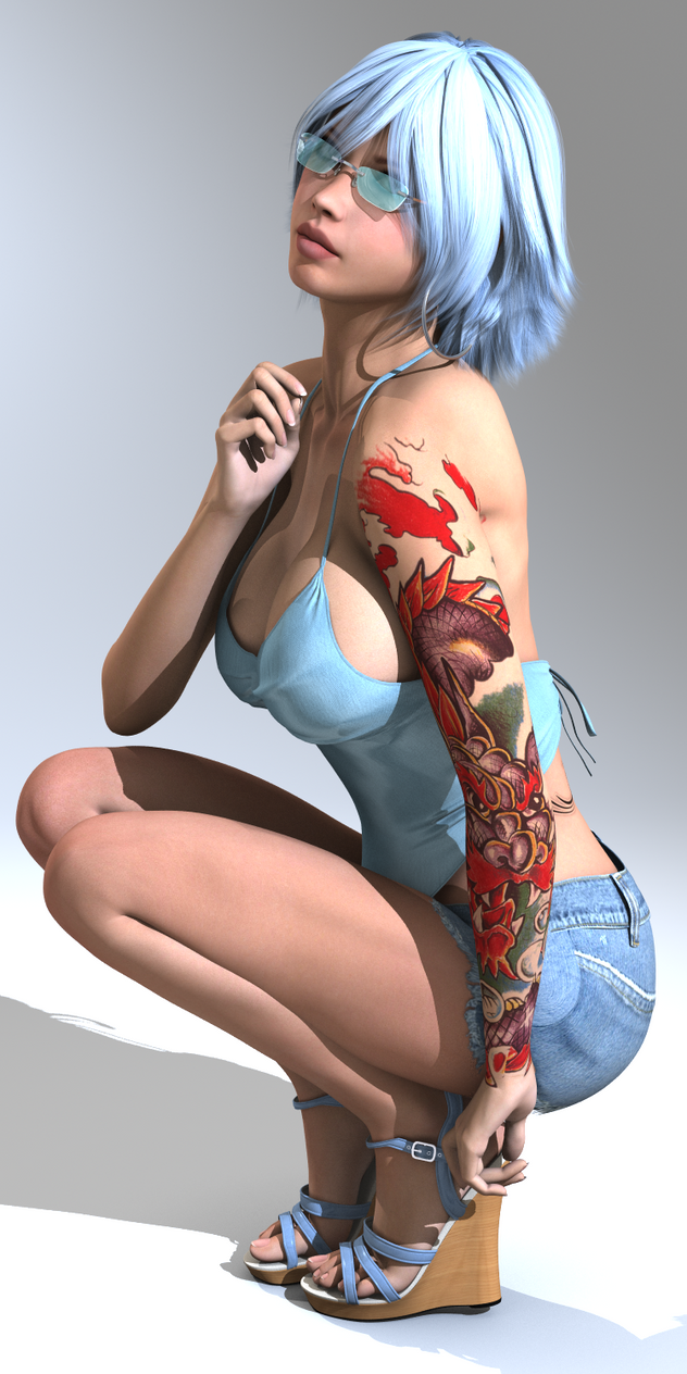 3d girl with fairys sexy photo