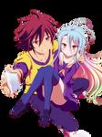 Sora and Shiro / Render