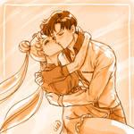 Day 11 - Usagi + Mamoru - Sailor Moon