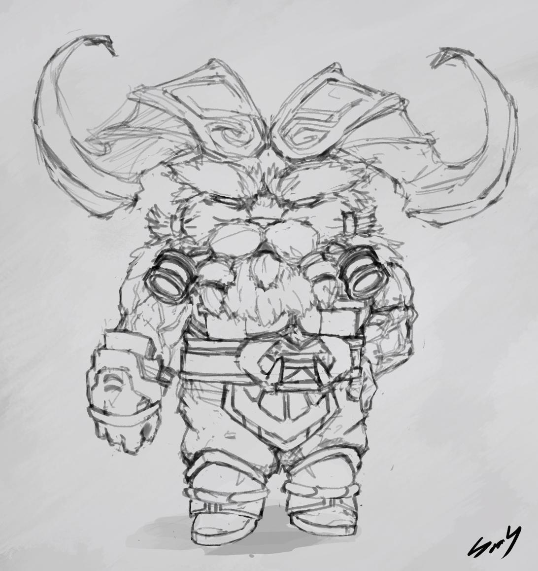 Yornndle Ornn Sketch League Of Legends By Seldroy On Deviantart Drawing unicorn cartoon sketch, unicornio, unicorn illustration png clipart. yornndle ornn sketch league of