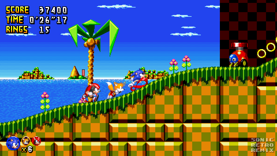 Sonic Retro Remix - Turquoise Hill Zone Mockup by PolarStar64 on