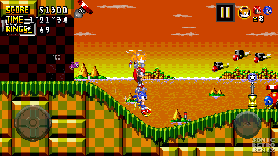 Sonic Retro Remix - Turquoise Hill Zone Mockup 2 by
