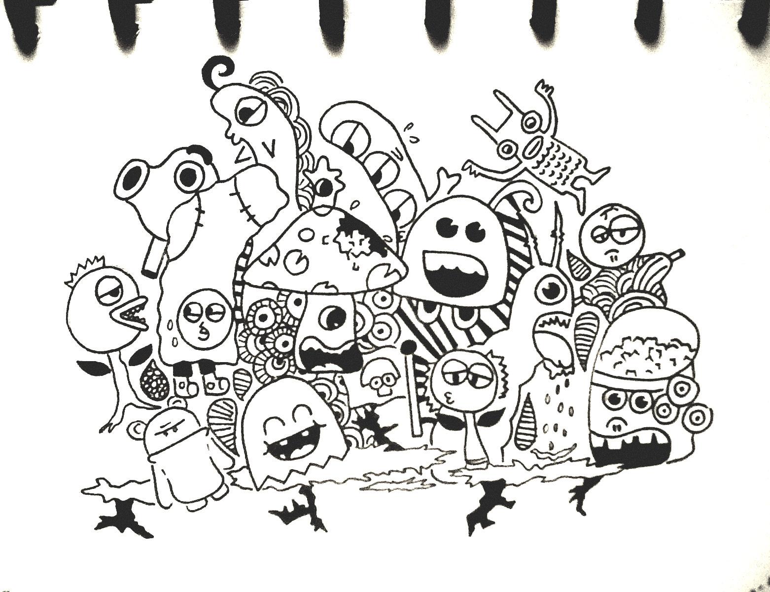 Doodle monster by tikaafni25 on deviantart for Doodle art monster