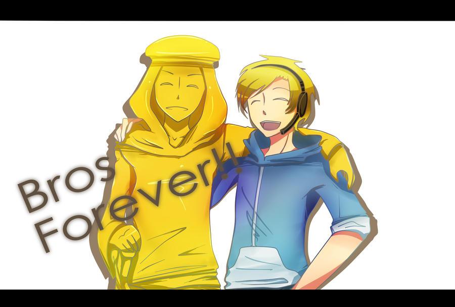 Pewdiepie - Bros Forever by ChibiGuardianAngel