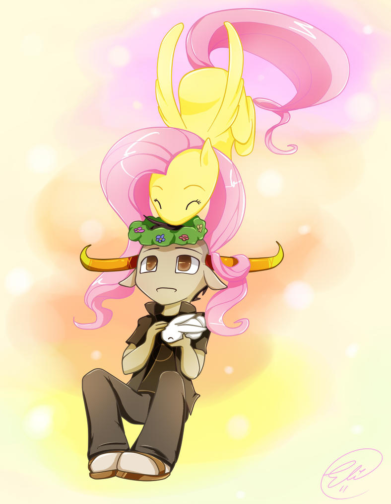 Tavros and Fluttershy by ChibiGuardianAngel