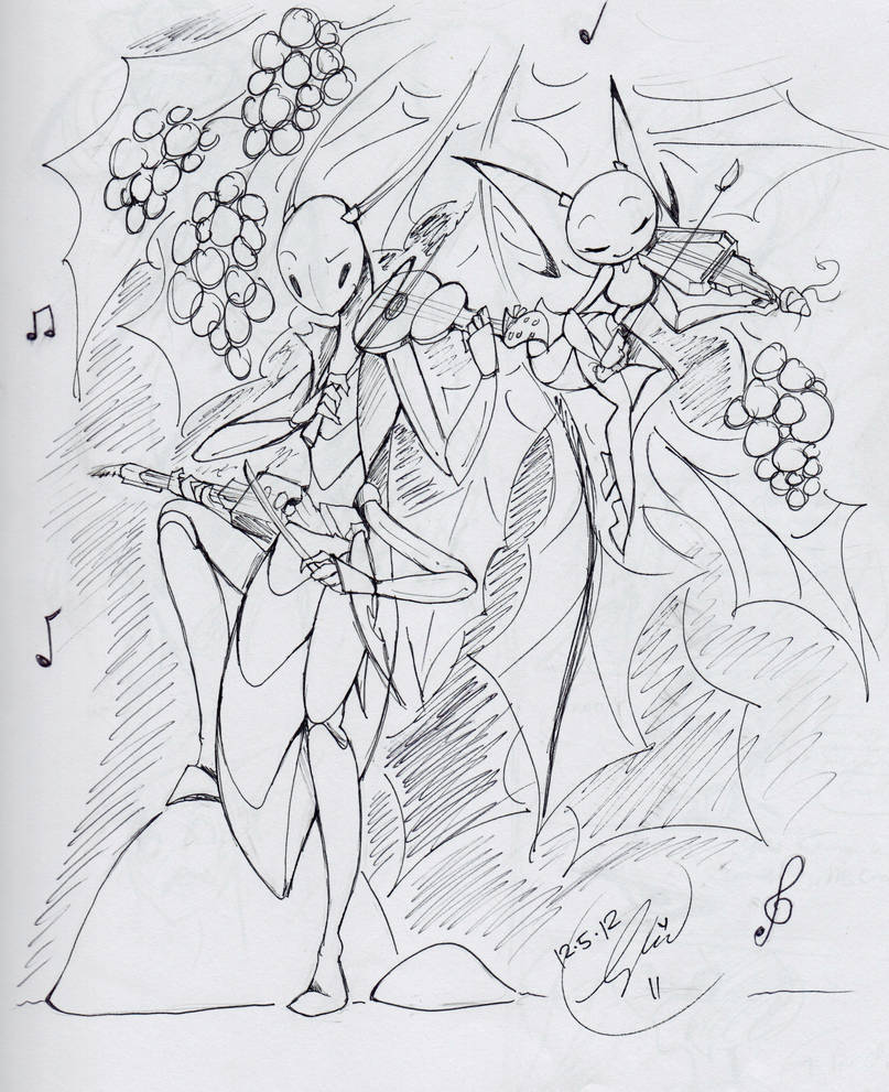 the grasshopper and the ant - lineart by RadioMomo on DeviantArt