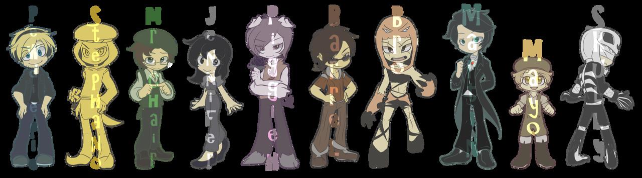 Pewdiepie: Main AMNESIA Characters by ChibiGuardianAngel