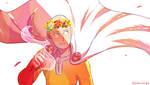 Opm Saitama with flowercrown
