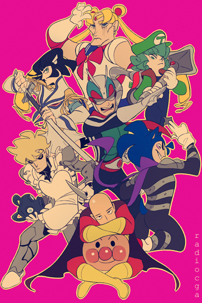 One Punch Man: can you name all of their crossover by ChibiGuardianAngel