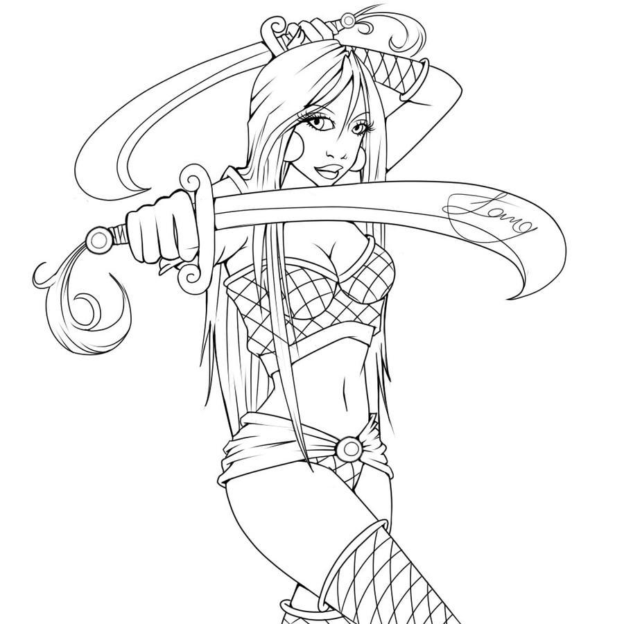 Line Art Ninja : Ninja lineart by windmyll on deviantart