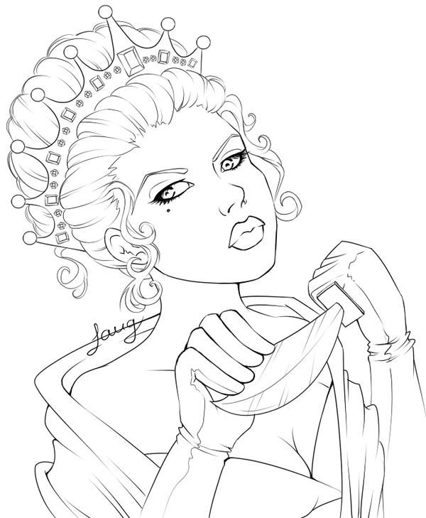 Line Art Queen : Killer queen lineart by windmyll on deviantart