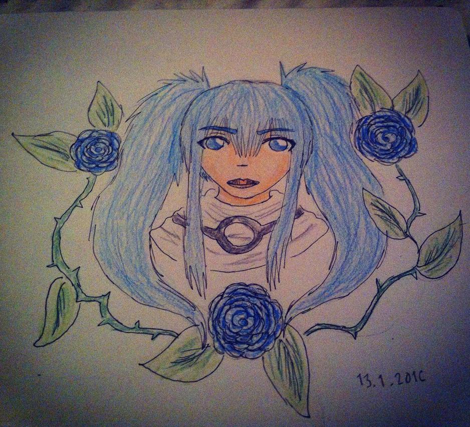 Blue girl by FaraOrlantha