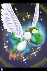 Dragon Yoshi by Pdubbsquared