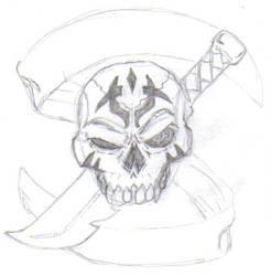 Skull Tattoo sketch by martfam816