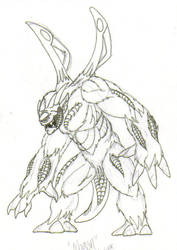 Mogon first draft sketch by martfam816