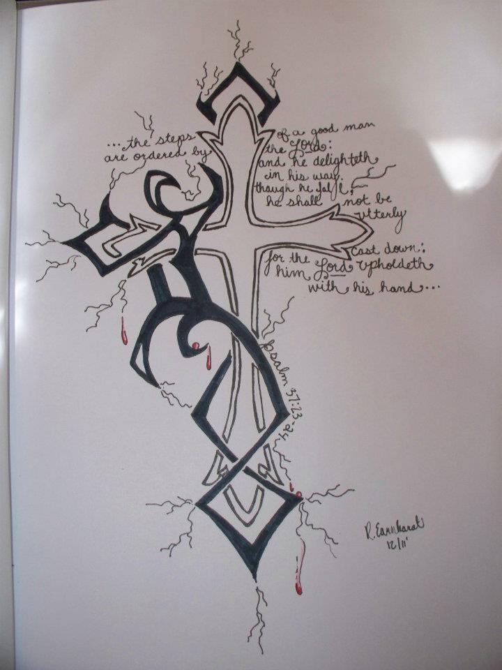 5fe49b9c9 Rheana E : Tribal Cross 1 :: by d-REM-tattoos on DeviantArt