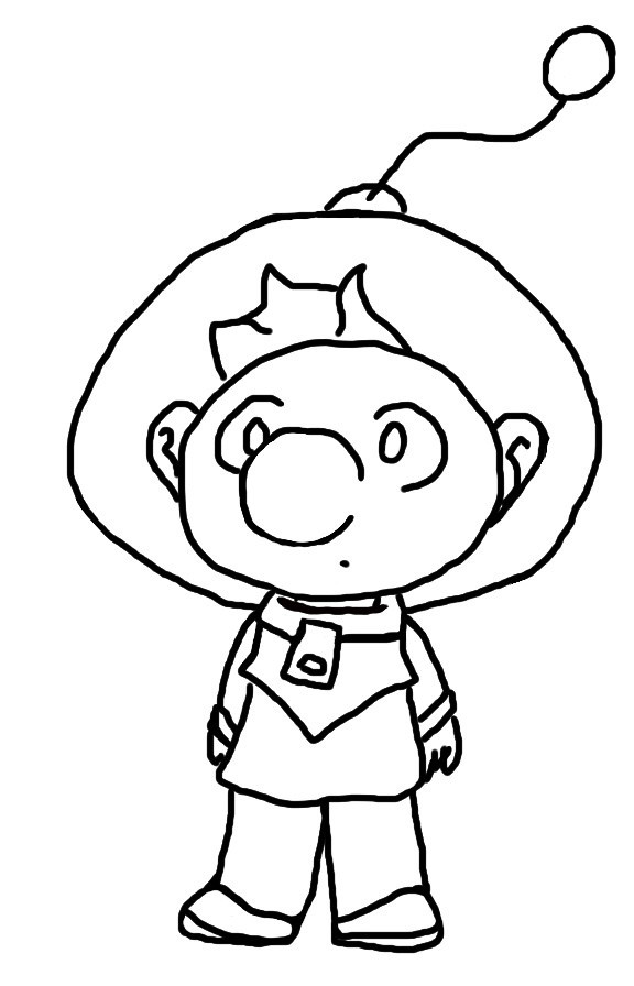 Pikmin Free Coloring Pages