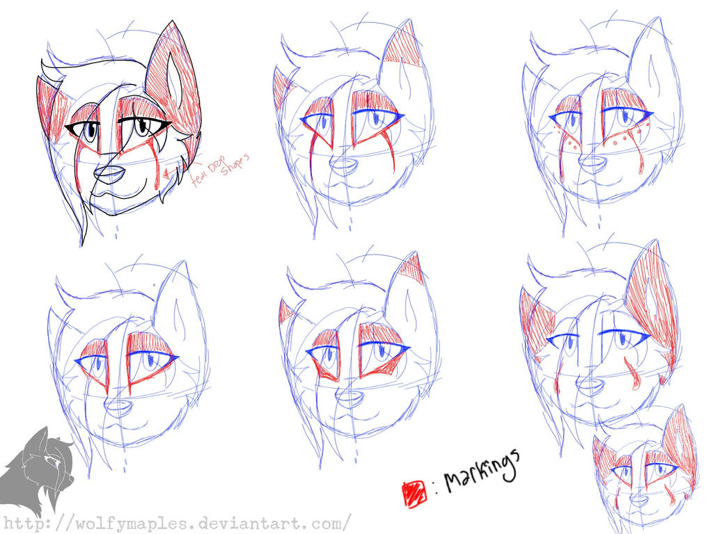 Lnxys design: head by wolfymaples