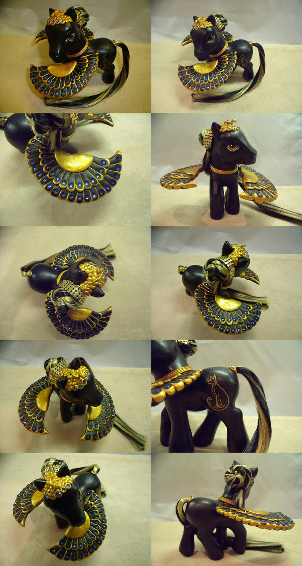 Egyptian Bast commission by customlpvalley
