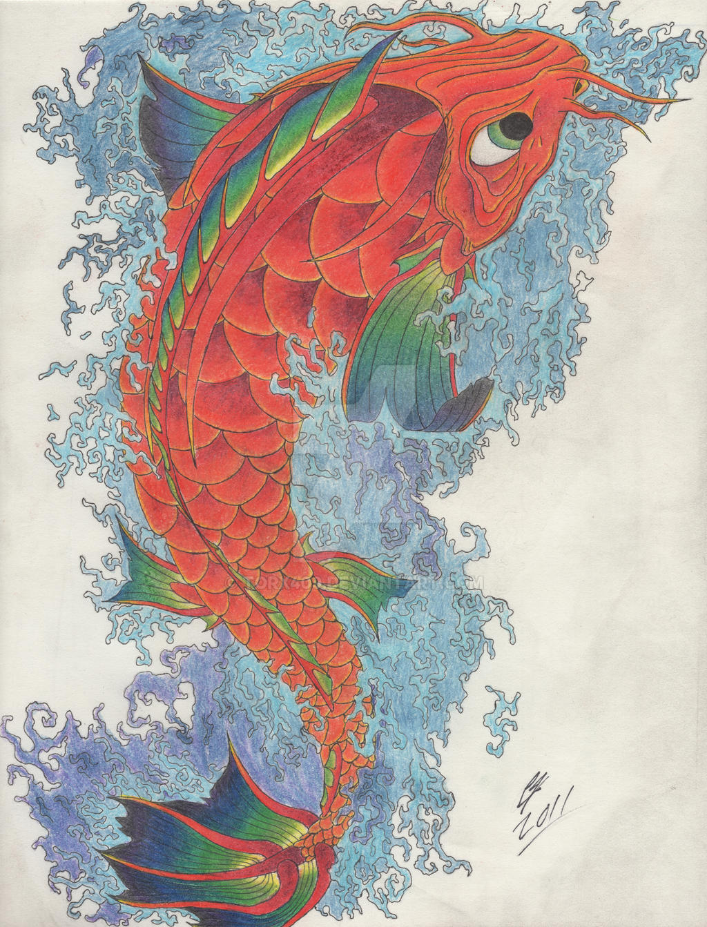 Koi Fish Hi Res By Torx409 On Deviantart