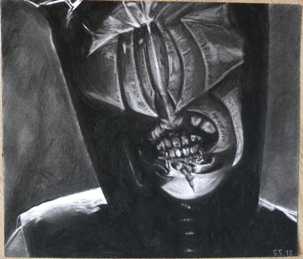 how to draw sauron in pencil