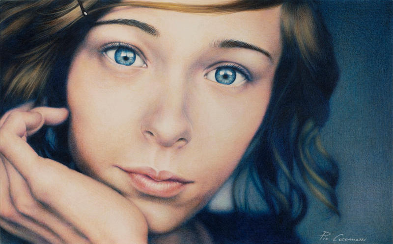 Portrait in blue by PIOart
