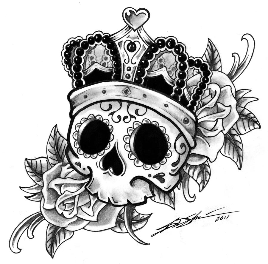 Crown tattoo on tumblr - Sugarskullqueen By Jsgraphix Sugarskullqueen
