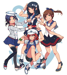 ravenclaw girls by yukihomu