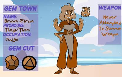 [Gem Town] Brown Zircon - Fusion by geminianDualities