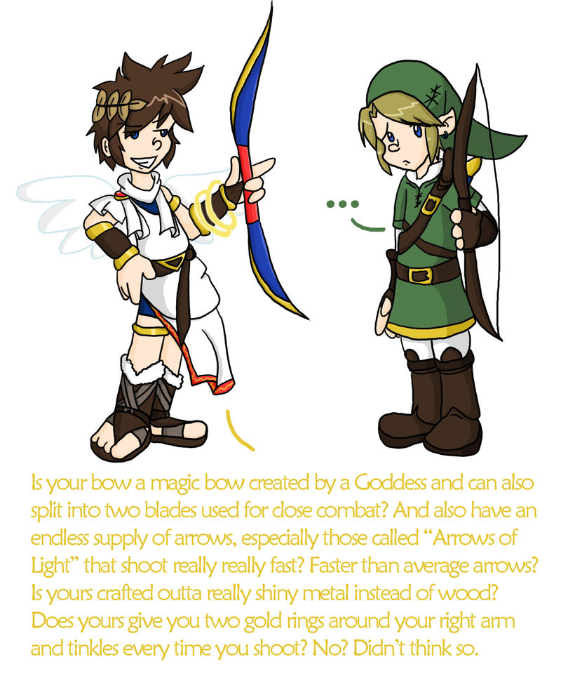 Link And Pit Compare Bows By Chikisingergrl