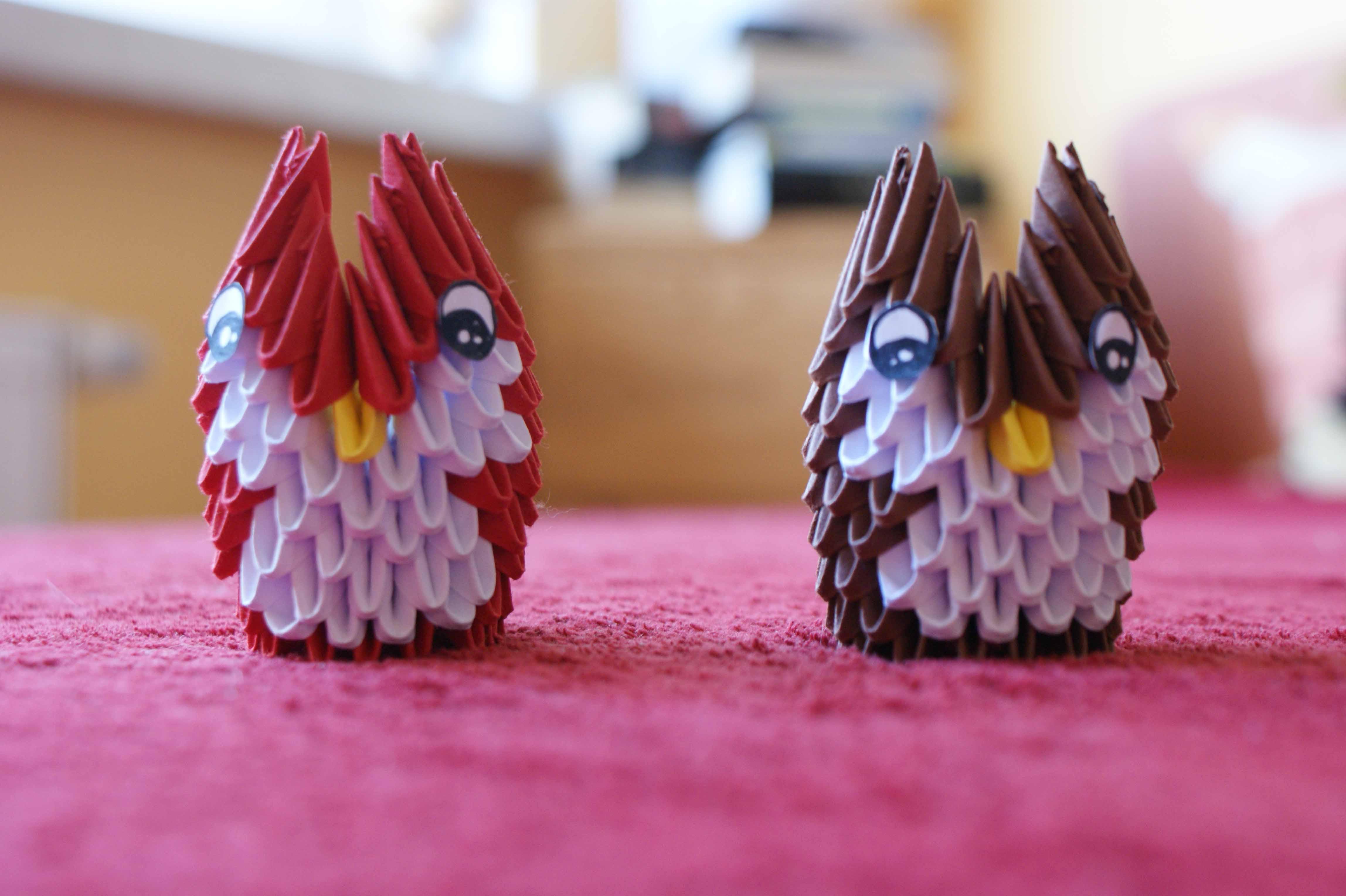 Modular Origami Mini Owl By KleinAlaine