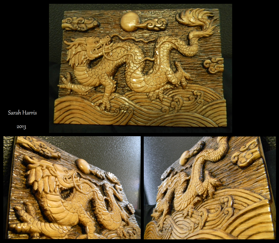 Dragon Carving 2 by Koeskull