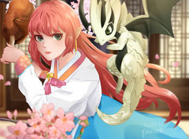 Lamiaa and Astra by Takasachi
