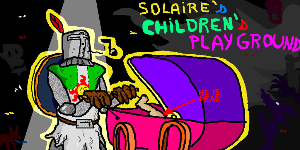 Solaire's children's playground by Paintenderp