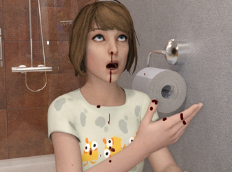 Life is Strange - Max's bloody nose #2 by David-Brainstorm93