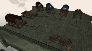 Sleds meshes for Morrowind 4