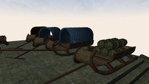 Sleds meshes for Morrowind 5