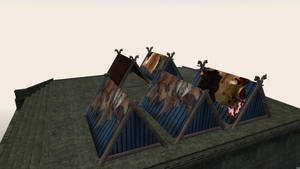 Tent meshes for Morrowind 3