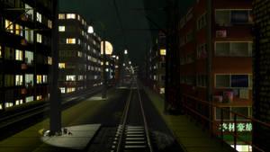 Cyberpunk Railway by Berandas