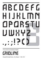 Gridline font by Berandas