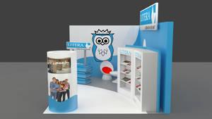 Exhibition booth design 3 by Berandas