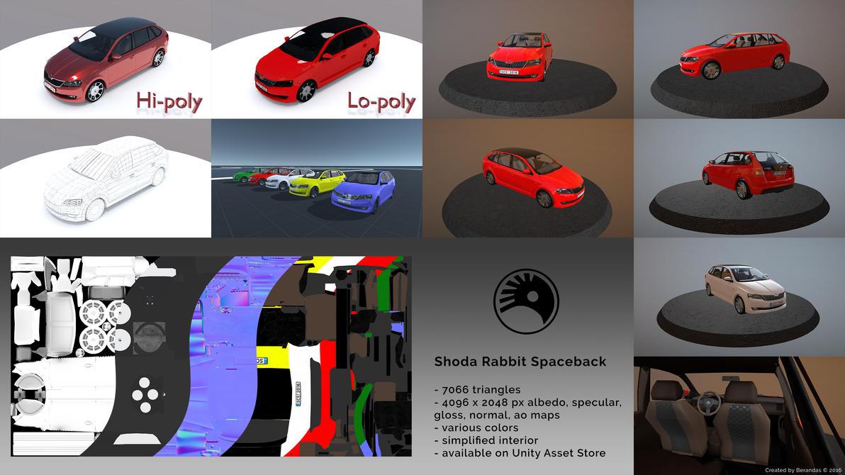 Shoda Rabbit Spaceback 3D Car by Berandas